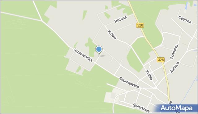 Chocianów, Jagodowa, mapa Chocianów