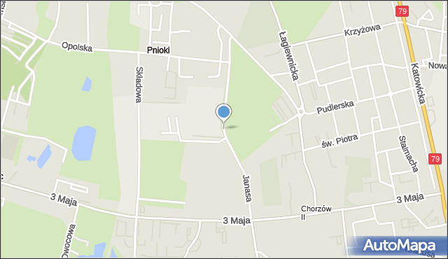 Chorzów, Janasa Wincentego, mapa Chorzów