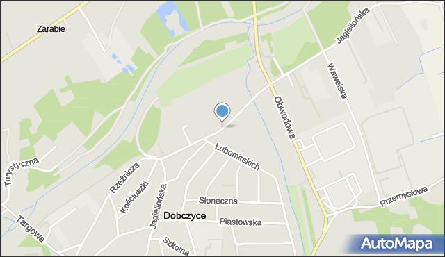 Dobczyce, Jagiellońska, mapa Dobczyce