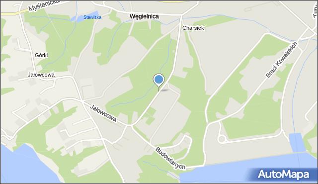 Dobczyce, Jałowcowa, mapa Dobczyce