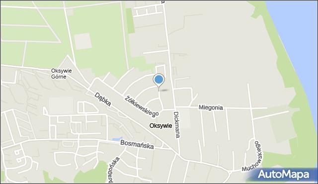 Gdynia, Jana z Tarnowa, mapa Gdyni