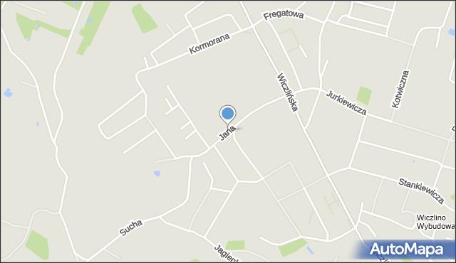 Gdynia, Jana Kazimierza, mapa Gdyni