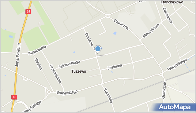 Grudziądz, Jalkowskiego Jerzego, mapa Grudziądza