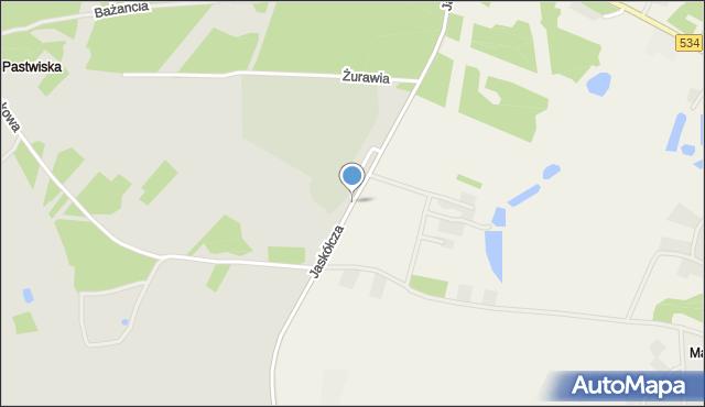 Grudziądz, Jaskółcza, mapa Grudziądza