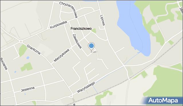 Grudziądz, Jaskrowa, mapa Grudziądza
