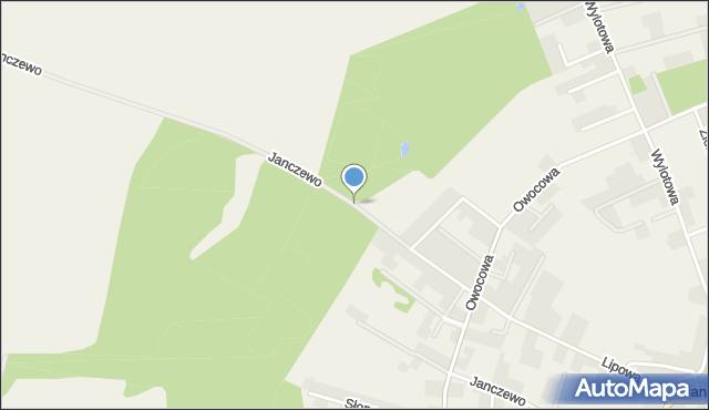 Janczewo gmina Santok, Janczewo, mapa Janczewo gmina Santok