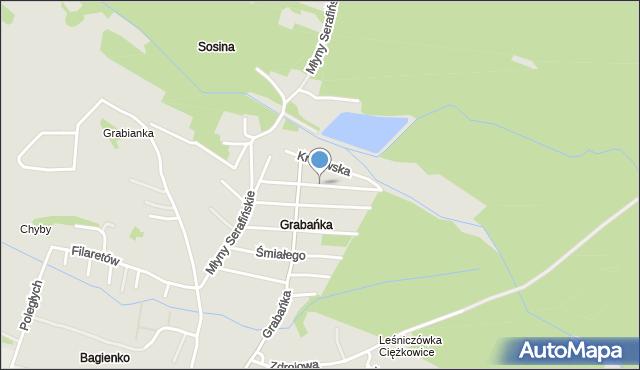 Jaworzno, Jana Olbrachta, mapa Jaworzno