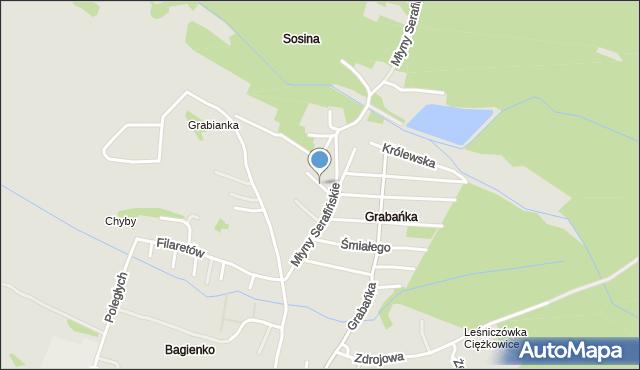Jaworzno, Jaracza Stefana, mapa Jaworzno