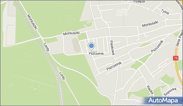 Jaworzno, Jarzębinowa, mapa Jaworzno
