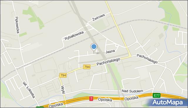 Kraków, Jasna, mapa Krakowa