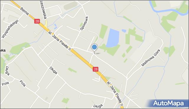 Krosno, Jasna, mapa Krosna
