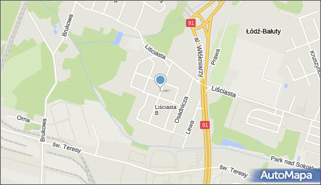 Łódź, Jagoszewskiego Mieczysława, mapa Łodzi
