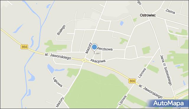 Lubaczów, Jarzębinowa, mapa Lubaczów