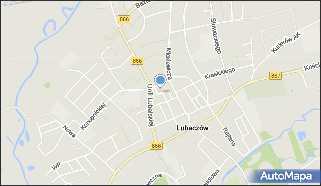 Lubaczów, Jasna, mapa Lubaczów