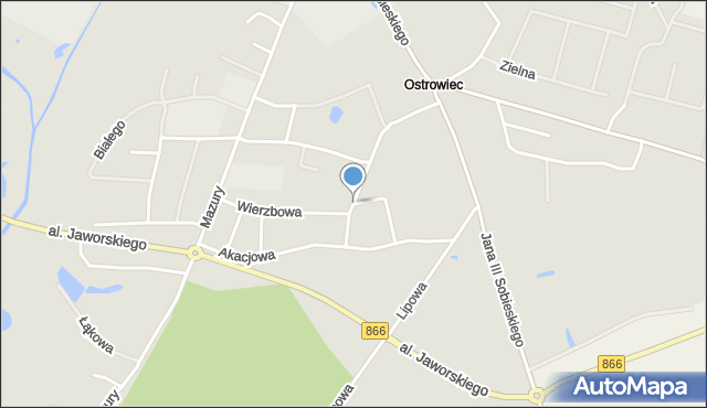 Lubaczów, Jaworowa, mapa Lubaczów