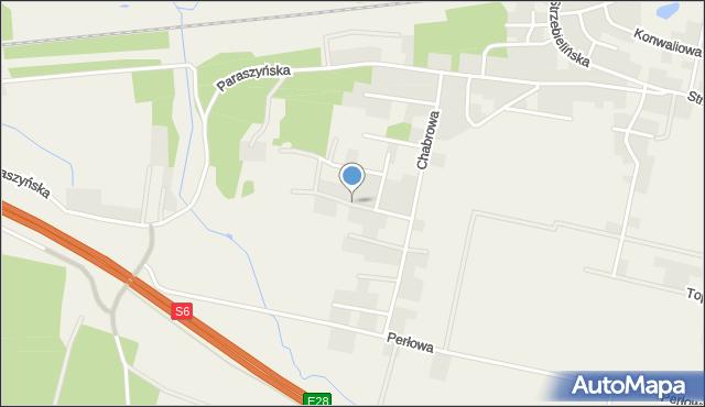 Luzino, Jagodowa, mapa Luzino