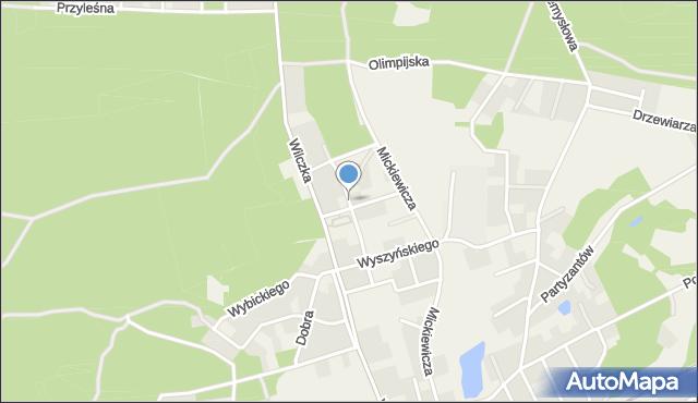 Luzino, Jana Pawła II, mapa Luzino