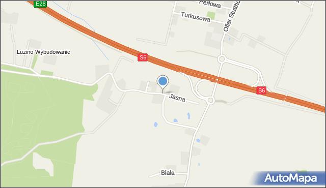 Luzino, Jasna, mapa Luzino