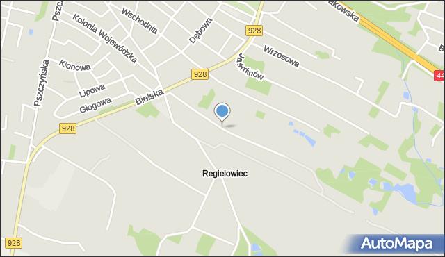Mikołów, Jaskrów, mapa Mikołów