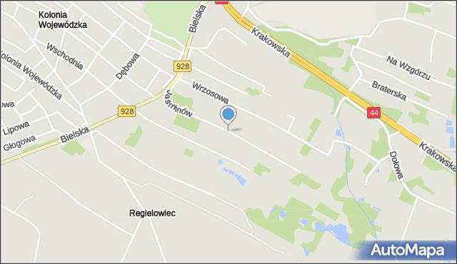 Mikołów, Jaśminów, mapa Mikołów