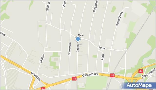 Mikołów, Jasna, mapa Mikołów