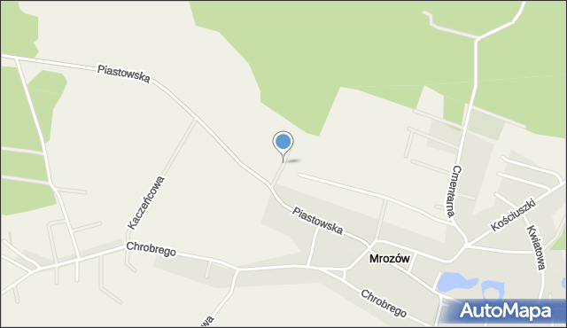 Mrozów, Jagodowa, mapa Mrozów
