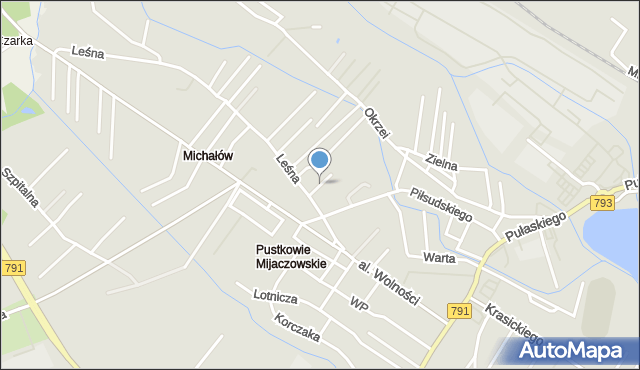 Myszków, Jaworowa, mapa Myszków