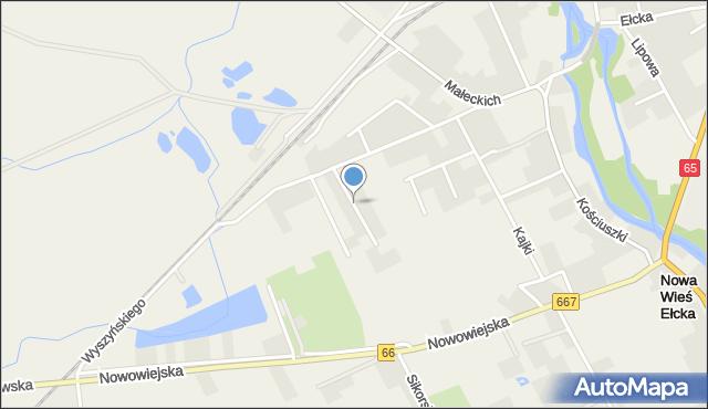 Nowa Wieś Ełcka, Jana Pawła II, mapa Nowa Wieś Ełcka