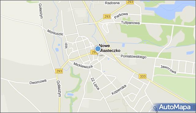 Nowe Miasteczko, Jana Pawła II, mapa Nowe Miasteczko