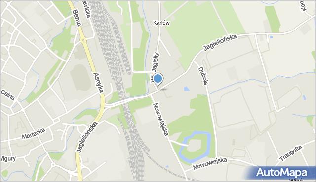 Nysa, Jagiellońska, mapa Nysy