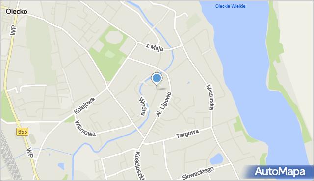 Olecko, Jagiellońska, mapa Olecko