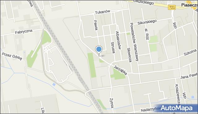 Piaseczno, Jarząbka Kazimierza, mapa Piaseczno