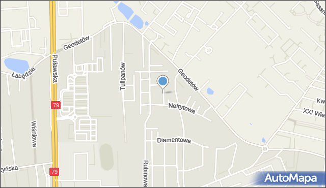 Piaseczno, Jaspisowa, mapa Piaseczno