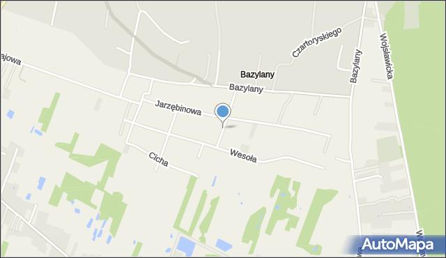 Pokrówka, Jarzębinowa, mapa Pokrówka