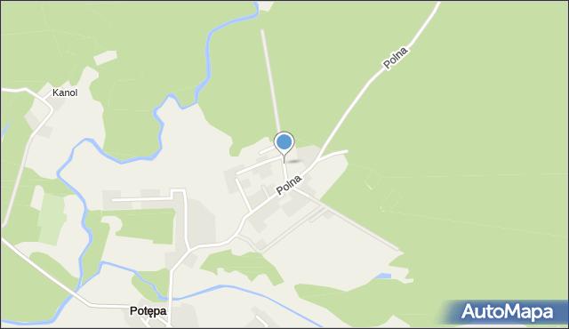 Potępa, Jaśminowa, mapa Potępa