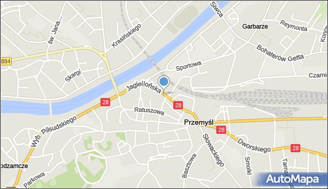 Przemyśl, Jagiellońska, mapa Przemyśla