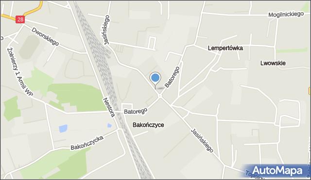 Przemyśl, Jasińskiego Jakuba, gen., mapa Przemyśla