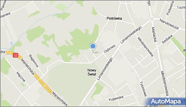 Radom, Jaworowa, mapa Radomia