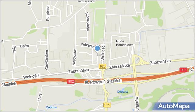 Ruda Śląska, Jaśminów, mapa Rudy Śląskiej