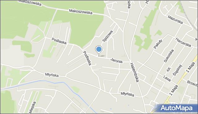 Ruda Śląska, Jaronia Nikodema, mapa Rudy Śląskiej