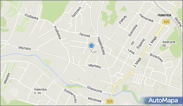 Ruda Śląska, Jastrzębia, mapa Rudy Śląskiej
