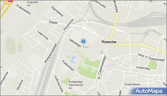Rzeszów, Jałowego Józefa, ks., mapa Rzeszów