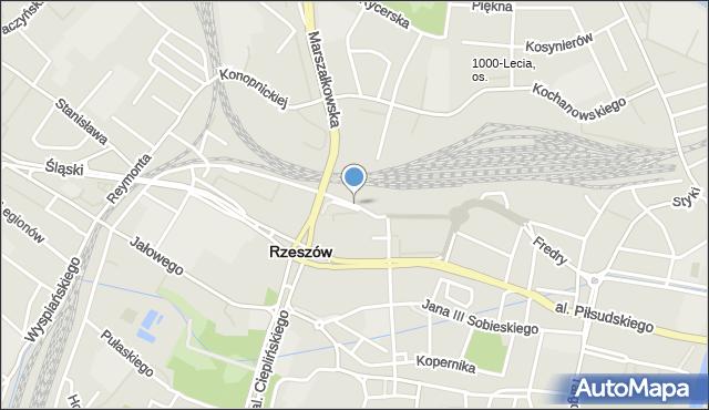 Rzeszów, Jabłońskiego Stanisława, mapa Rzeszów