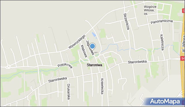 Rzeszów, Jagodowa, mapa Rzeszów