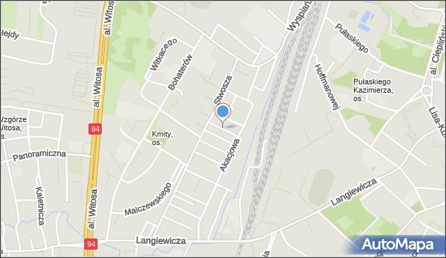 Rzeszów, Jaworowa, mapa Rzeszów