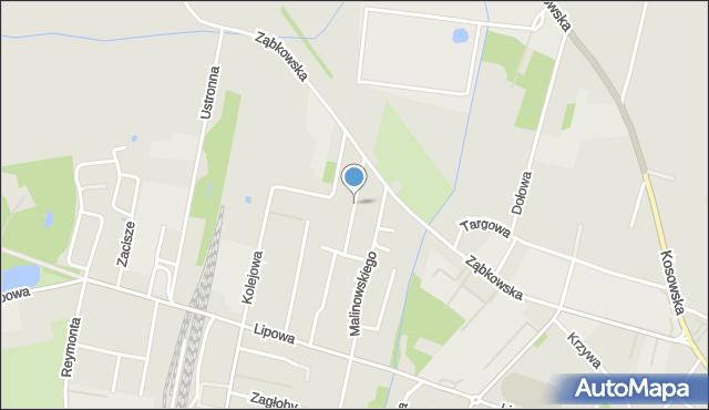 Sokołów Podlaski, Jaśminowa, mapa Sokołów Podlaski