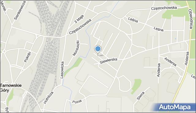 Tarnowskie Góry, Jasna, mapa Tarnowskie Góry