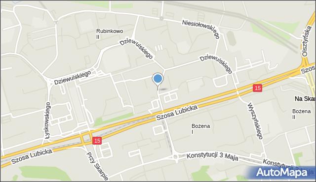 Toruń, Jamontta Bronisława, mapa Torunia