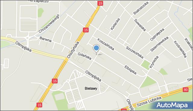 Toruń, Jarocińska, mapa Torunia