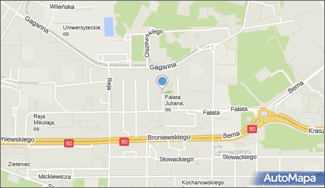 Toruń, Jaroczyńskiego Mariana, mapa Torunia